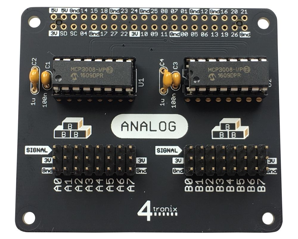 16-Channel Analog Input KIT for 40-pin Raspberry Pi