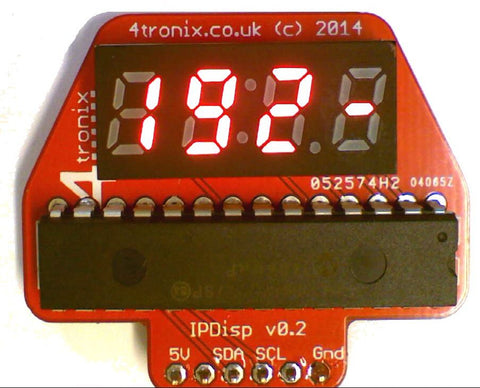 I2C Quad 7 Segment IP Address Display I2C for Raspberry Pi