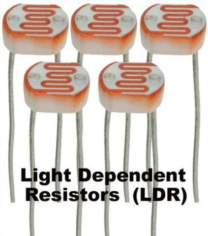 Pack of 5 mini-LDR Sensors