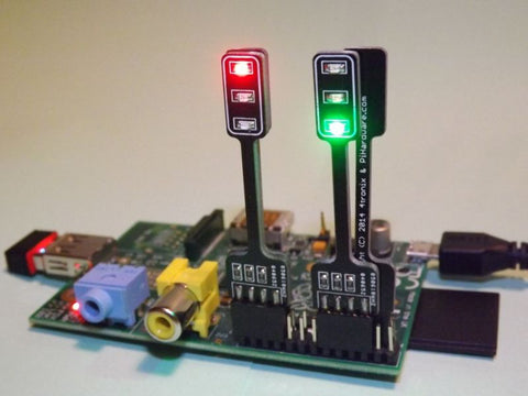 10 Pack Pi-Stop Educational PiStop Traffic Light Add-on for Raspberry Pi