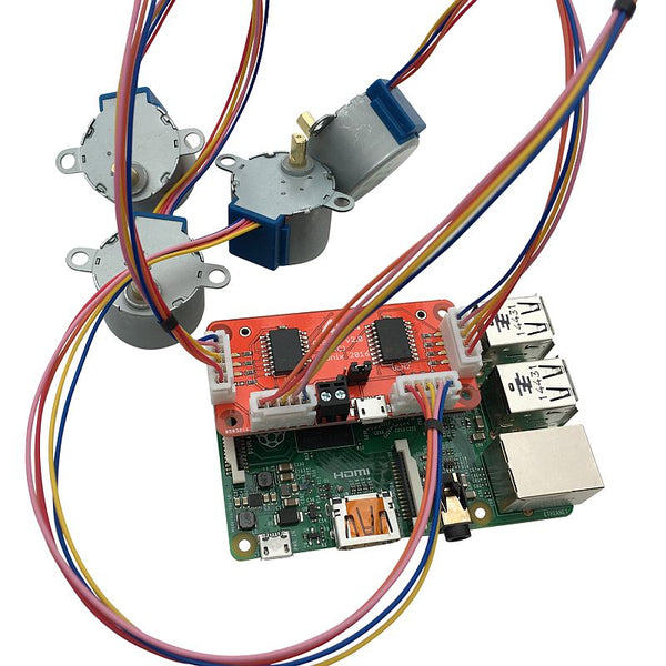 PiStep2 Quad Stepper Motor Control Board for Raspberry Pi