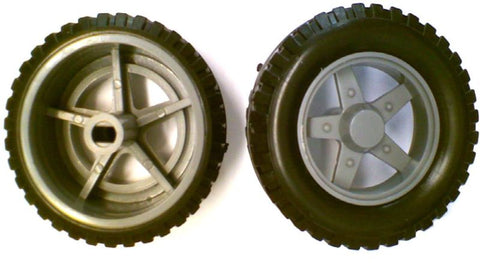 Pair of 50mm Wheels for Stepper Motor 5mm Shaft