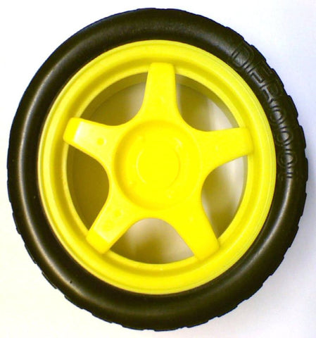 65mm Yellow Wheel for Robot Vehicle