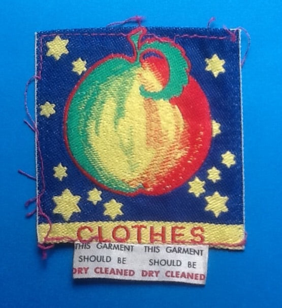 Beatles Apple Original Clothing Tag