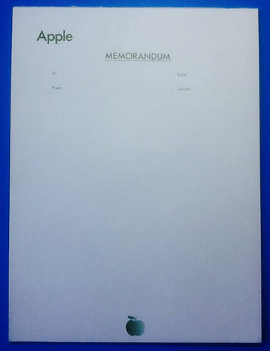 Beatles Original Apple Memo Notepaper