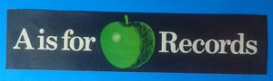 Beatles 'A is for Apple Records' Unused Promotional Bumper Sticker