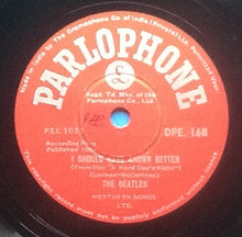 "Load image into Gallery viewer, Beatles I Should Have Known Better - I'm Happy Just to Dance With You 2 Track NMint 10"" 78rpm Vinyl Single India"
