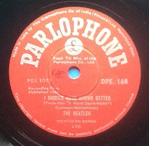 "Beatles I Should Have Known Better - I'm Happy Just to Dance With You 2 Track NMint 10"" 78rpm Vinyl Single India"