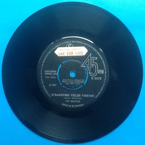 "Beatles Strawberry Fields Forever7"" Factory Sample Demo 1967"