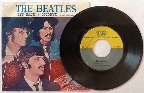 Beatles Mary Hopkin Get Back Goodbye 4 Track NMint 7