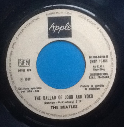 Beatles The Ballad of John and Yoko 2 Track 7