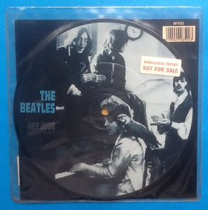 "Beatles Hey Jude 7"" NMint Picture Disc Manufacturers Property Demo 1988"