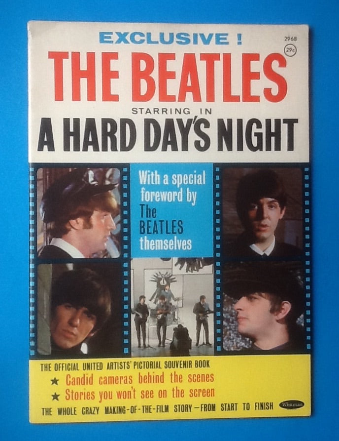 Beatles A Hard Day's Night Souvenir Magazine 1964