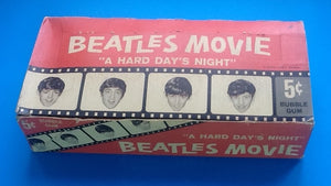 Beatles Movie A Hard Day's Night Tradig Cards Box
