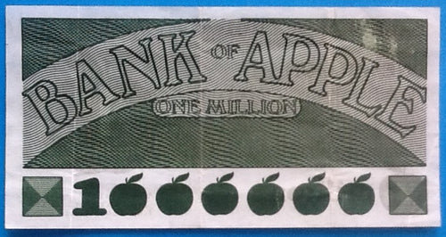 Beatles Apple Promotional Bank of Apple One Million Bank Note