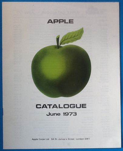 Beatles Apple Records Artists and Releases Catalogue 1973