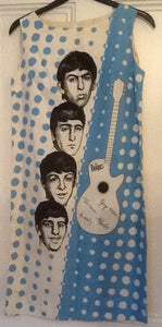 Beatles Blue Sleeveless Dress Holland