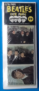 Beatles Unopened  Color Photos Pack of 3
