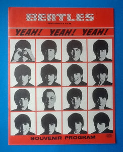 Beatles A Hard Day's Night Premiere Programme Sweden  1964