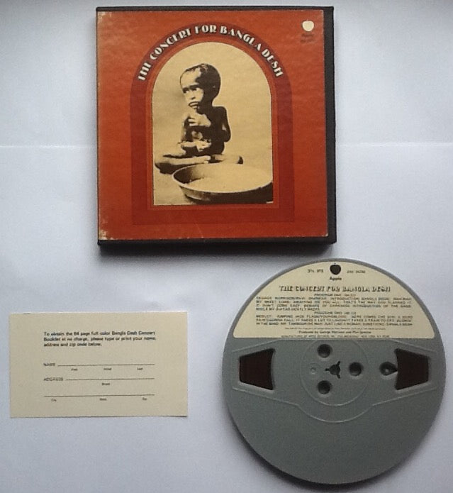 Beatles George Harrison Concert For Bangladesh Reel To Reel Tape 3 3-4 IPS Stereo USA 1971