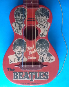 Beatles Rare Original Promotional Yeah Yeah Guitar Mastro