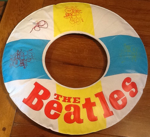Beatles Help! Promotional Inflatable Vinyl Life Saver Belt Ring  1965