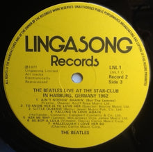 Load image into Gallery viewer, Beatles The Beatles Live! at the Star in Hamburg; 1962 2 x Vinyl Album LP UK 1977