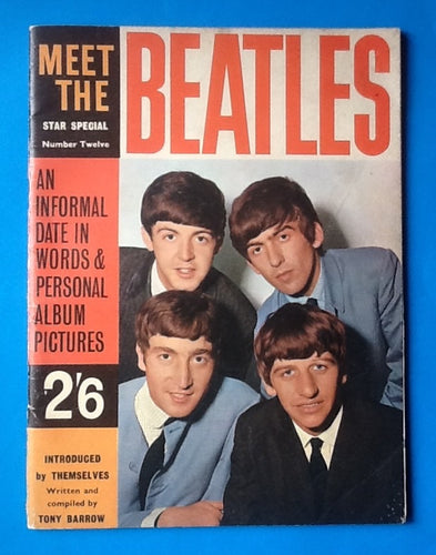 Beatles Original Magazine Meet The Beatles 1963