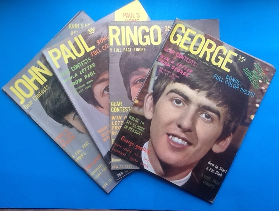 Beatles Magazine Teen Screen Life Story Set of Four 1964