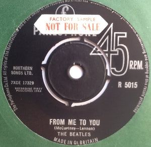 "Beatles From Me To You 2 Track 7"" Factory Sample Promo Demo Vinyl Single UK 1963"