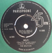"Load image into Gallery viewer, Beatles Help! 2 Track 7"" Factory Sample Promo Demo Vinyl Single UK 1965"