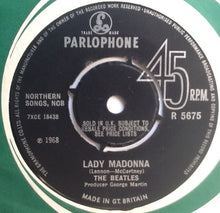 "Load image into Gallery viewer, Beatles Lady Madonna 2 Track 7"" Factory Sample Promo Demo Vinyl Single UK 1968"
