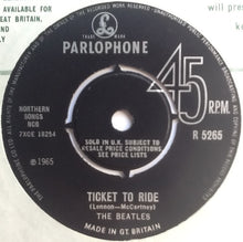 "Load image into Gallery viewer, Beatles Ticket To Ride 2 Track 7"" Factory Sample Promo Demo Vinyl Single UK 1965"