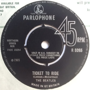 "Beatles Ticket To Ride 2 Track 7"" Factory Sample Promo Demo Vinyl Single UK 1965"