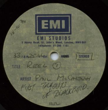 Beatles Paul McCartney Blackbird Rehearsal Rare 12