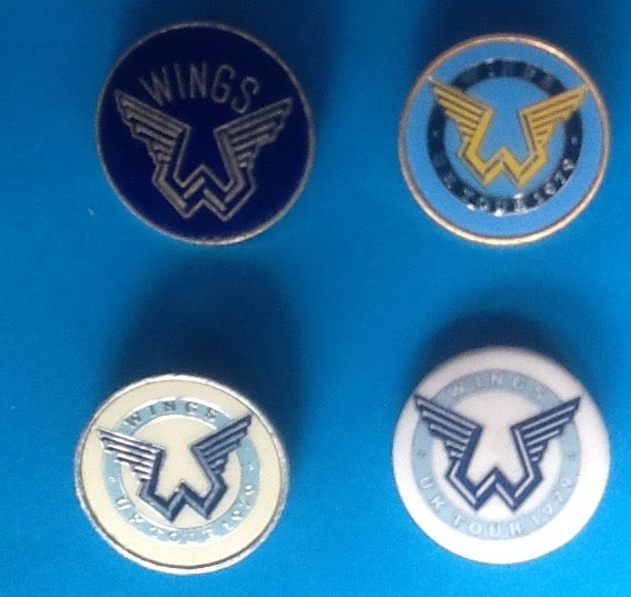 Beatles Paul McCartney Wings Set of 4 Badges UK Tour 1979
