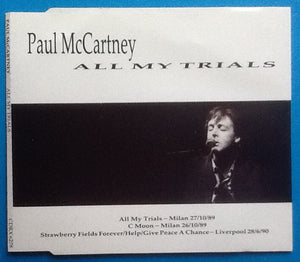Paul McCartney All My Trials 3 Track CD Single 1990