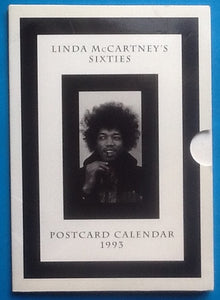 Beatles Paul Linda McCartney Sixties Postcard Calendar 1993