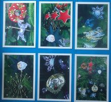 Load image into Gallery viewer, Beatles Paul Linda McCartney Set of 9 Christmas Cards 1997