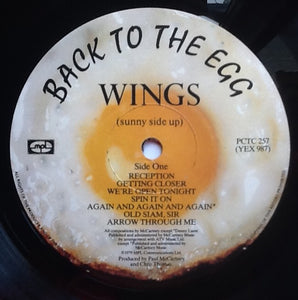 Beatles Paul McCartney Wings Back to the Egg 14 Track NMint Factory Sample Promo Demo Vinyl Album LP UK 1979