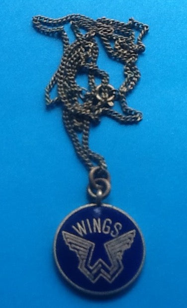 Beatles Paul McCartney Wings Original Metal Necklace UK Tour 1979