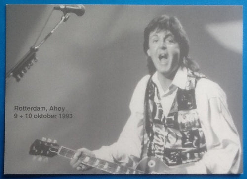Beatles Paul McCartney Concert Handbill Flyer Postcard Rotterdam 1993