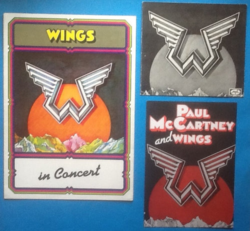 Beatles Paul McCartney Wings Concert Programme and Promo Items UK Tour 1975