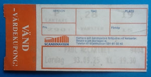 Beatles Paul McCartney Used Concert Ticket Gothenburg 1993