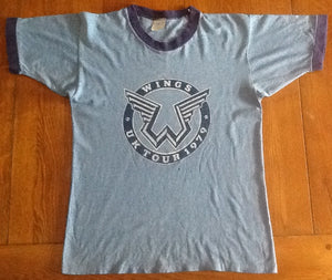 Beatles Paul McCartney Wings Vintage Tour T-Shirt UK Tour 1979