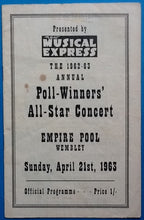 Load image into Gallery viewer, Beatles Original Concert Programme NME Poll Winners Wembley London 1963
