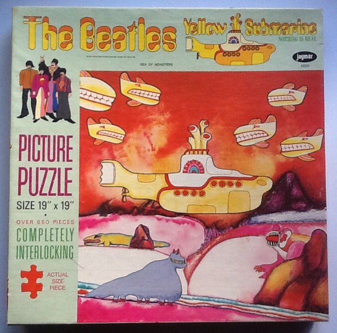 Beatles Yellow Submarine Sea of Monsters Large Still Sealed Jaymar Jigsaw Puzzle