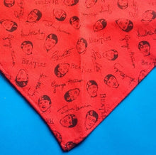 Load image into Gallery viewer, Beatles Red Triangular Headband Scarf