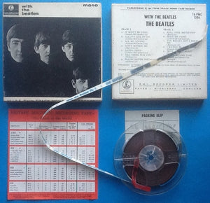 Beatles With The Beatles Reel To Reel Mono Tape Card Box Packing Slip EMI Insert 1964