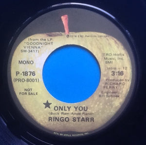 "Ringo Starr Only You 2 Track 7"" NMint Apple Promo USA 1974"